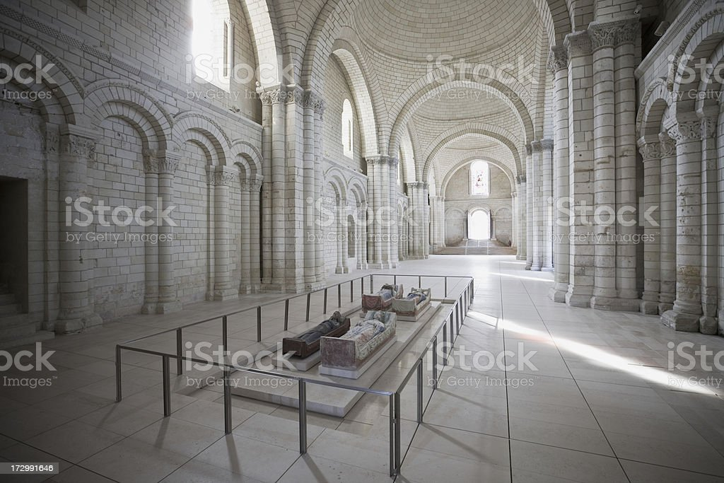 Tomb of Richard the Lionheart stock photo