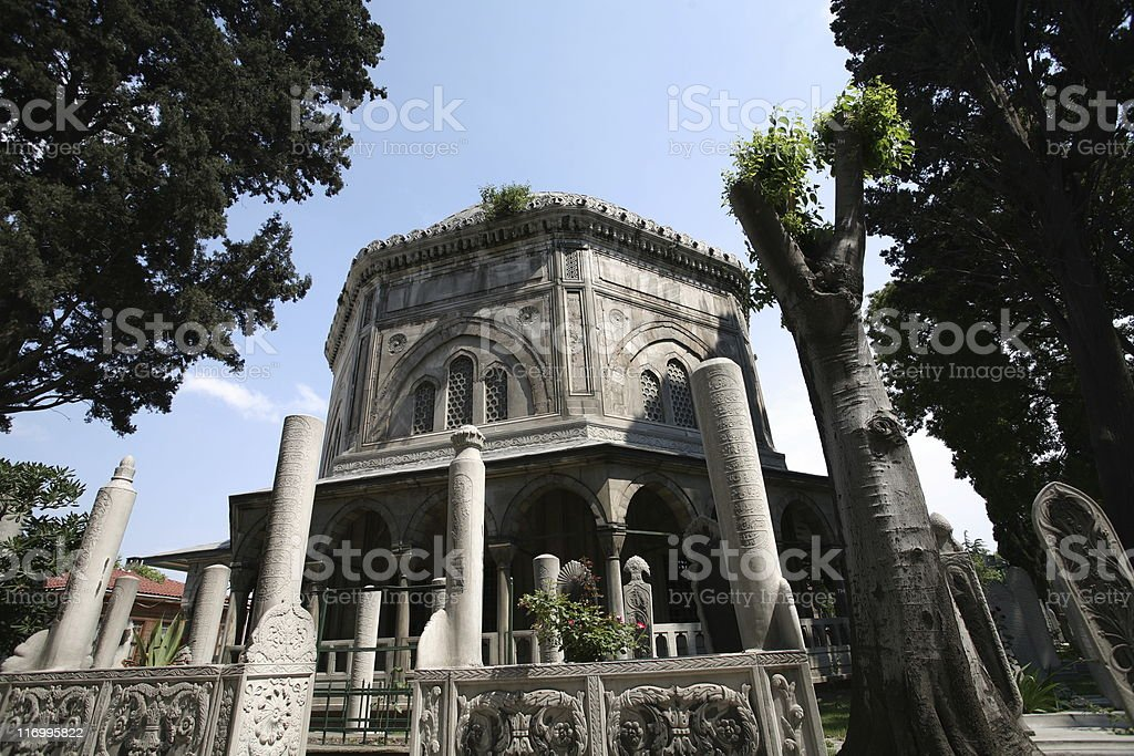 Tomb of Suleiman the Magnificent stock photo