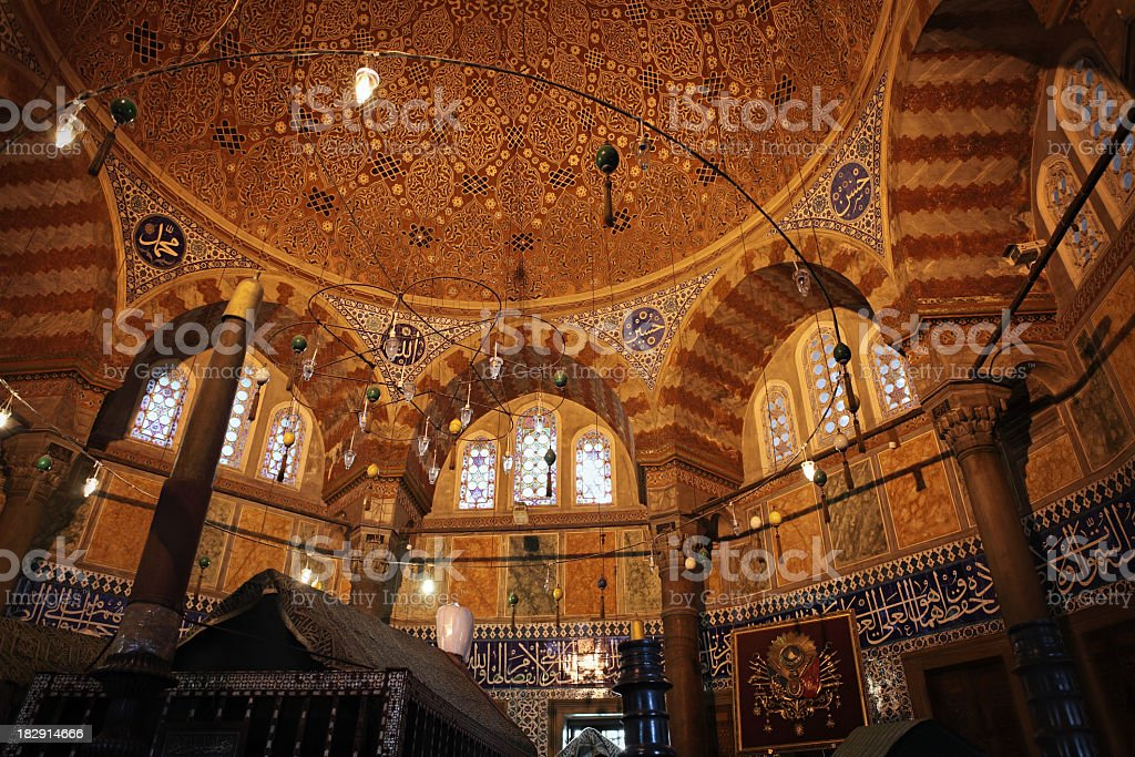 Tomb of sultan Suleiman in Istanbul stock photo