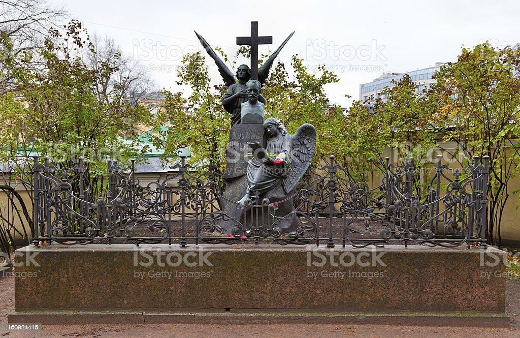 Tomb of Tchaikovsky stock photo