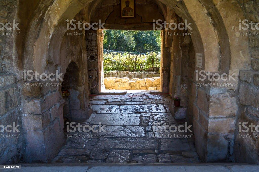 Tomb of the Georgian King David. stock photo