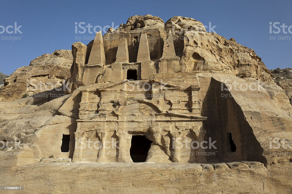Tomb of the Obelisk and Bab el Siq Triclinium stock photo