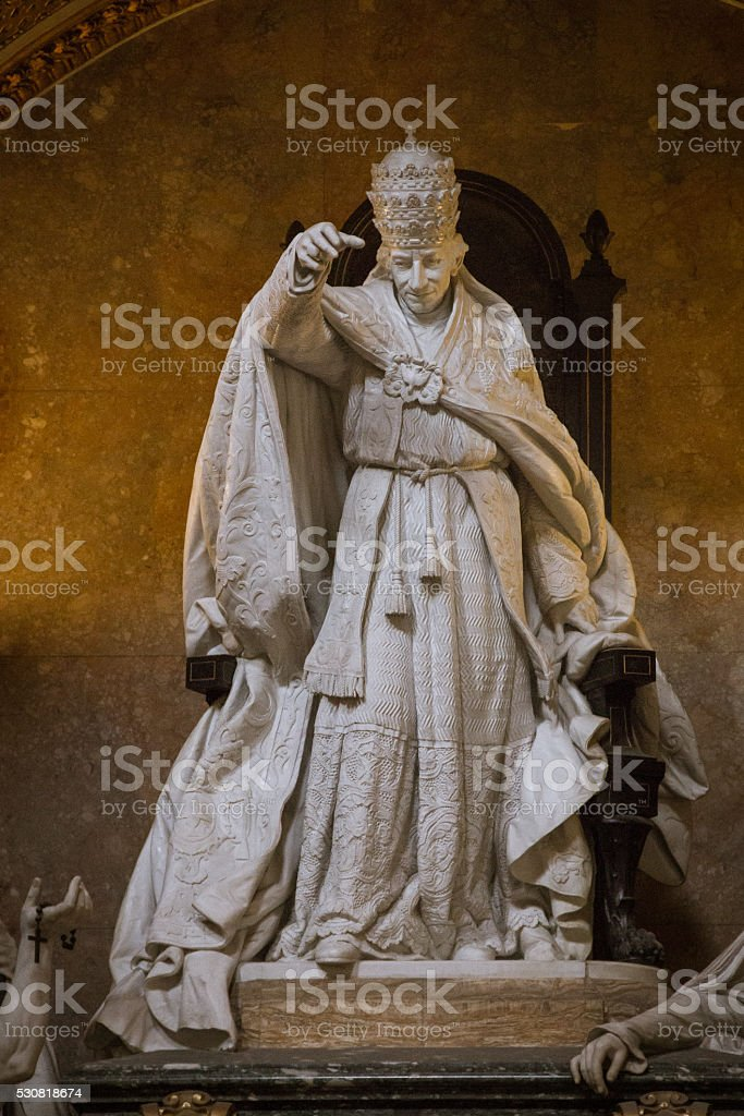 Tomb of the Pope Leo XIII stock photo