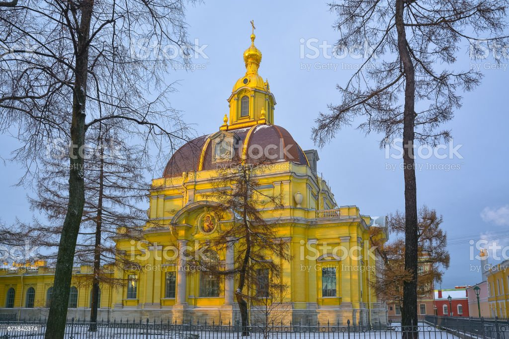 Tomb of the Russian princes Romanovs in the Peter and Paul Fortress stock photo