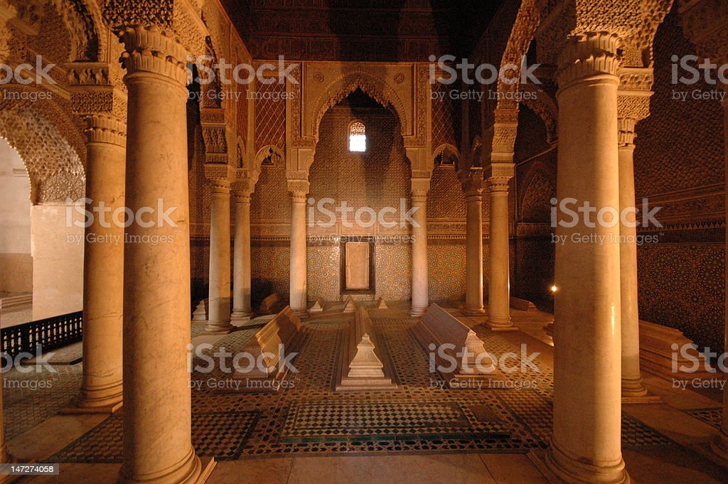 Tomb of the Sa'dian Rulers Marrakesh Morocco royalty-free stock photo