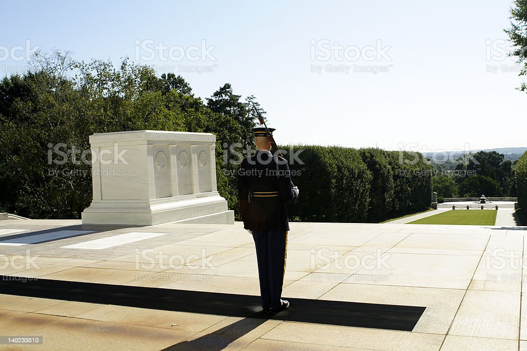 tomb of the unknown stock photo