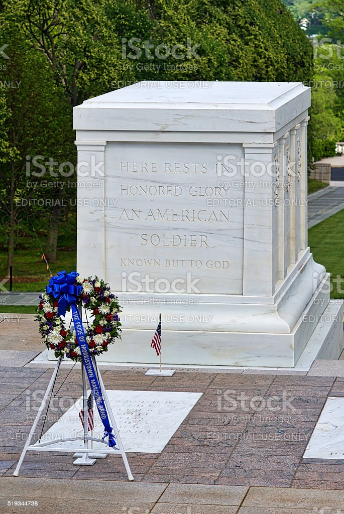 Tomb of the Unknown Soldier, Arlington National Cemetery stock photo