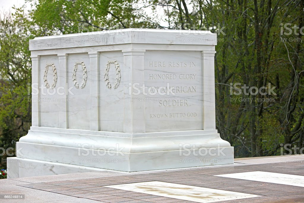 Tomb of the Unknown Soldier Arlington National Cemetery stock photo