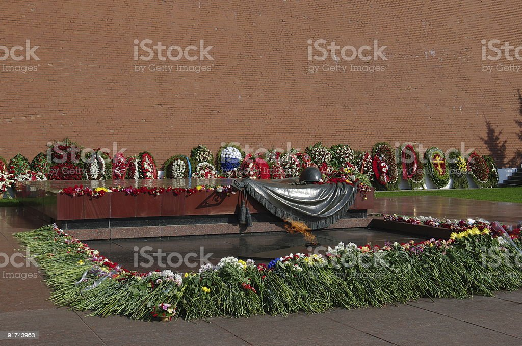 Tomb of the Unknown Soldier in Alexander Garden  (Moscow, Russia) stock photo