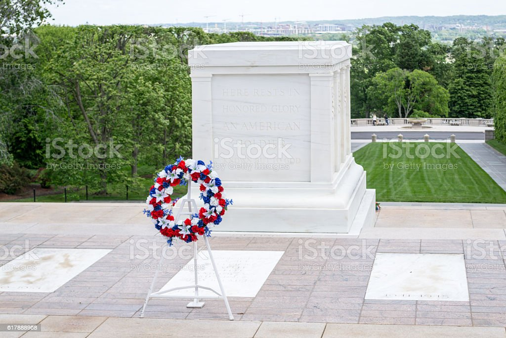 Tomb of the Unknown Soldier in Arlington stock photo