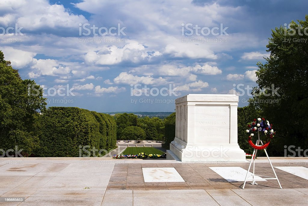 Tomb of the Unknown Soldier in Arlington, Virginia royalty-free stock photo