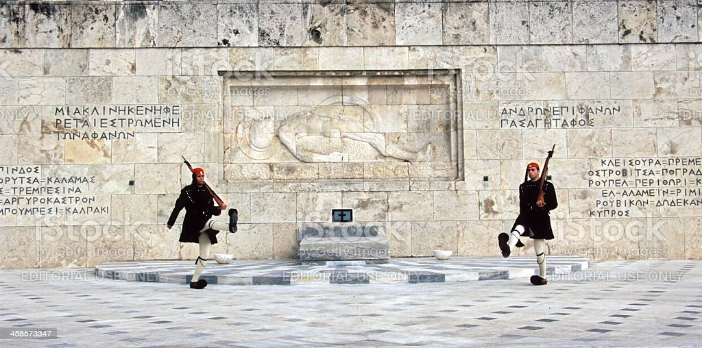 Tomb of the Unknown Soldier in Athens royalty-free stock photo