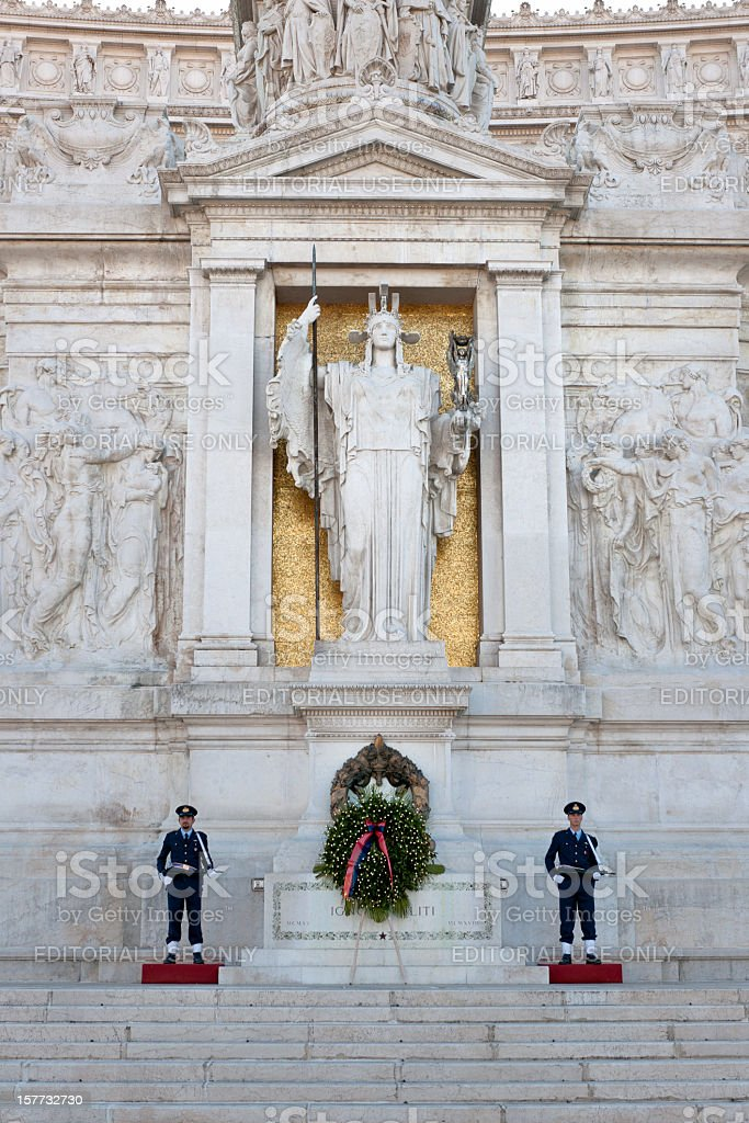 tomb of the Unknown Soldier in Rome royalty-free stock photo