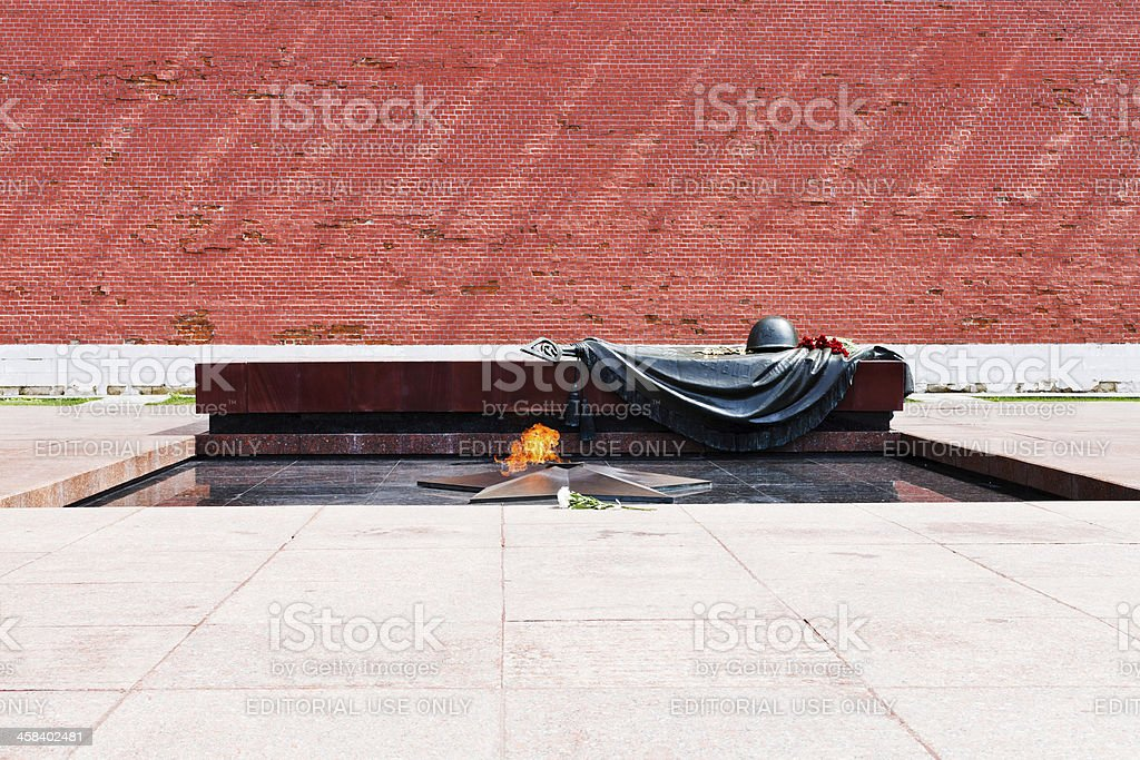 Tomb of the Unknown Soldier, Moscow stock photo