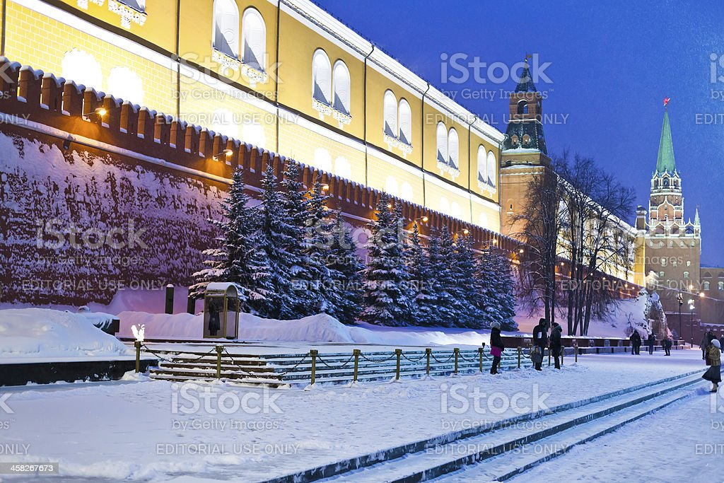 Tomb of the Unknown Soldier new Kremlin Wall, Moscow stock photo