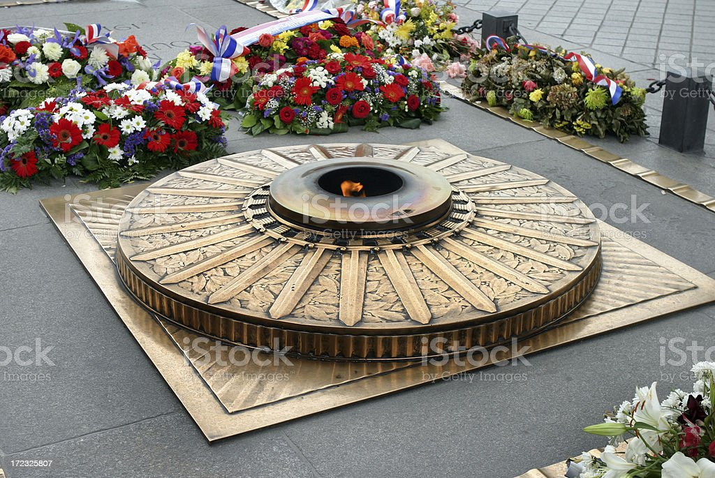 Tomb of the Unknown Soldier Paris France royalty-free stock photo