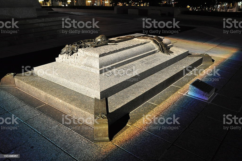 Tomb of the Unknown Soldier stock photo