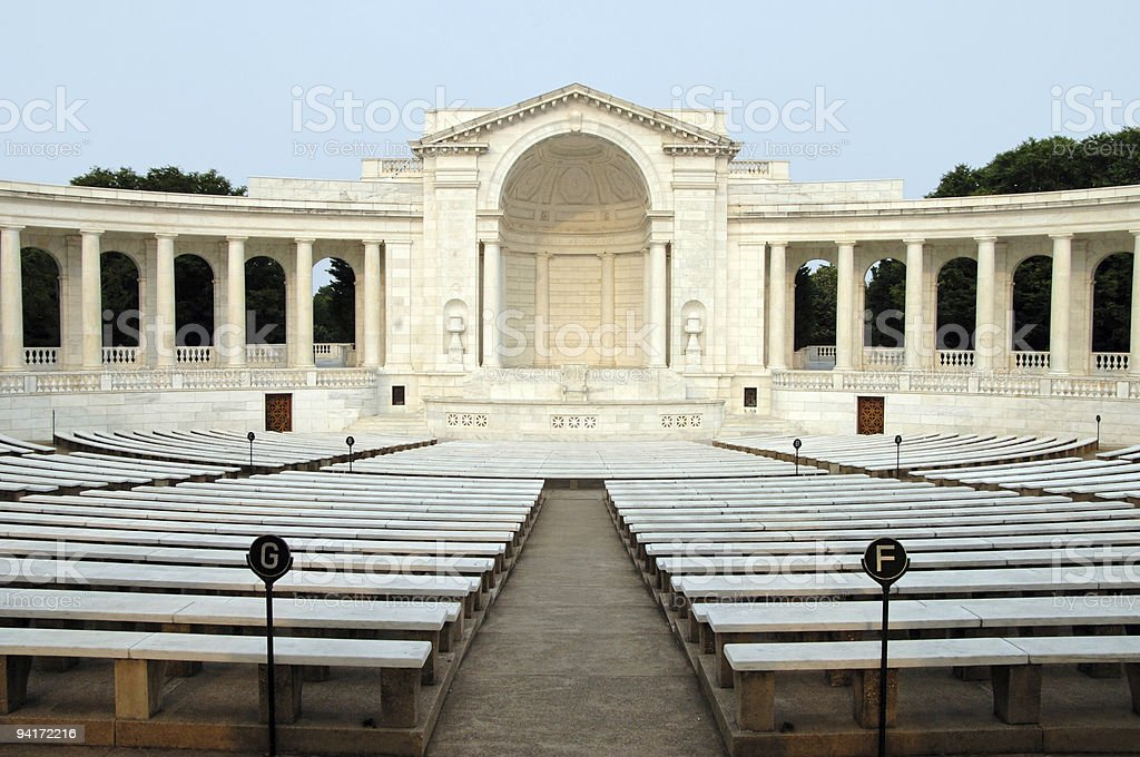 Tomb of the unknown soldier (auditorium) royalty-free stock photo