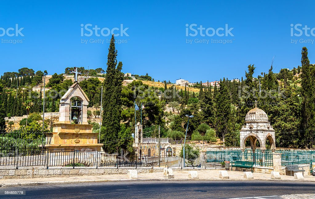 Tomb of the Virgin Mary in Jerusalem stock photo