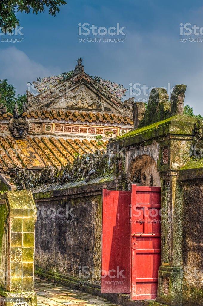 Tomb of Tu Duc, Hue, Vietnam stock photo