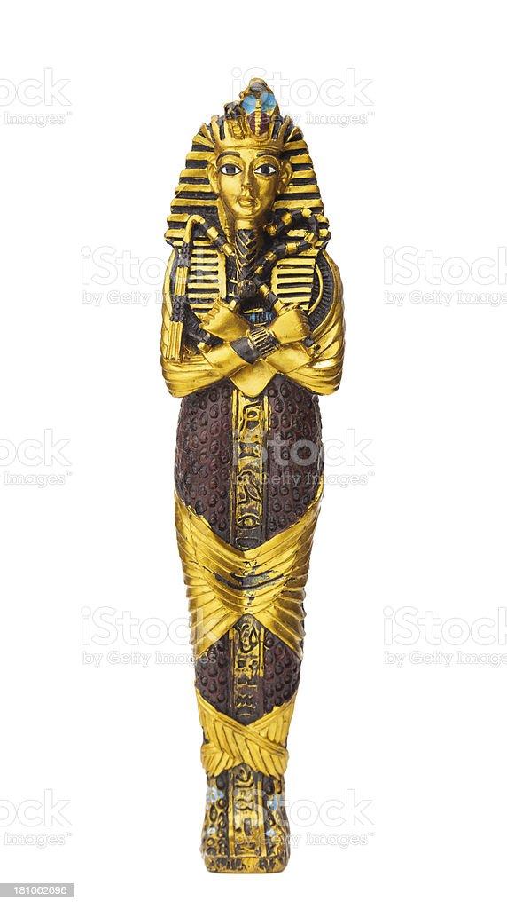 Tomb of Tutankhamen on white background stock photo