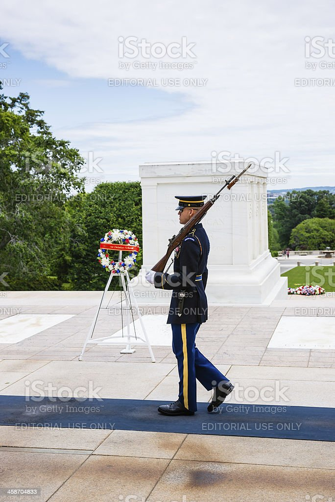 Tomb of Unknown Soldier in Arlington, Virginia, USA stock photo