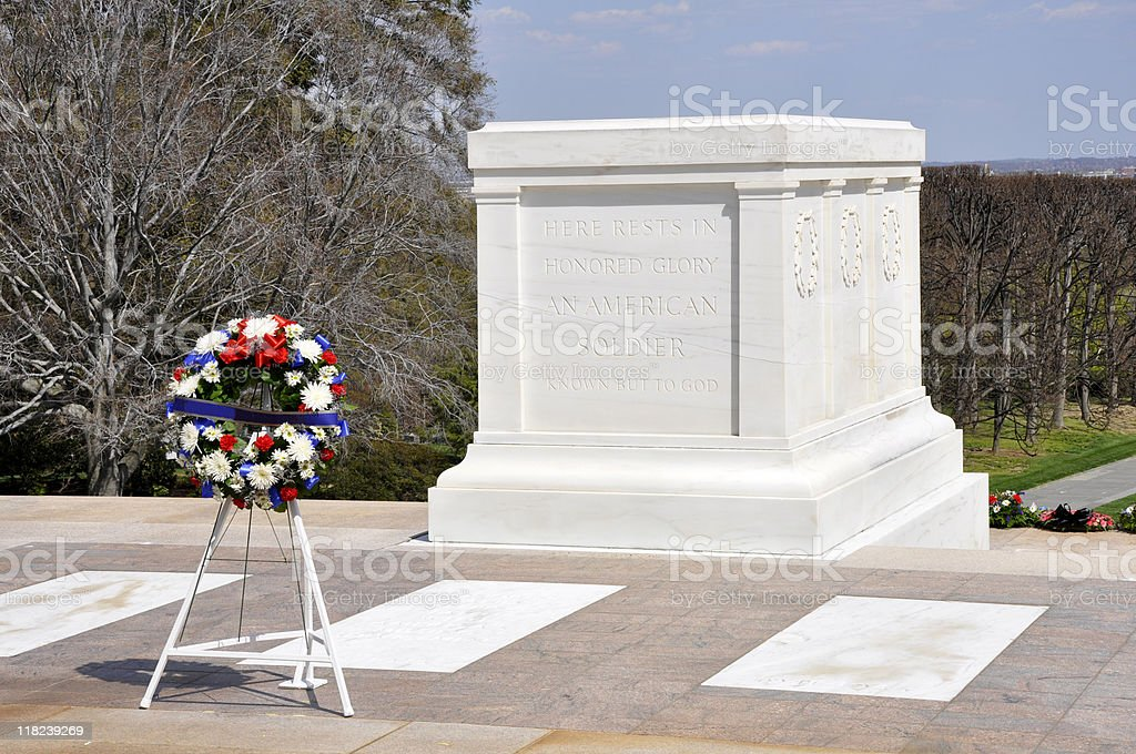 Tomb of Unknown Soldier stock photo