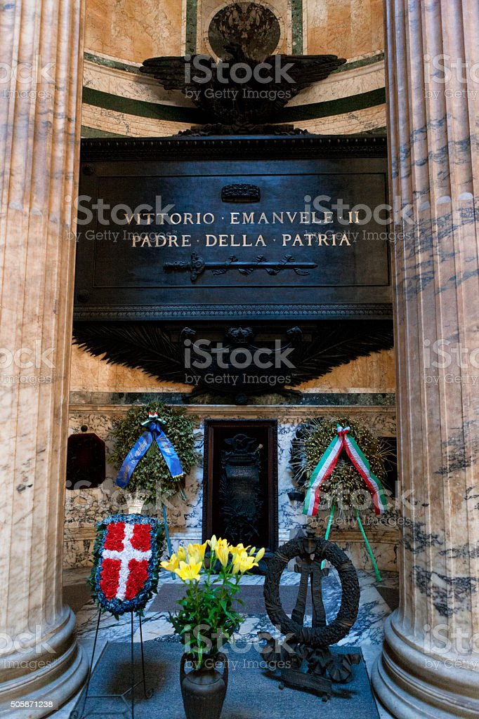 Tomb of Victor Emmanuel II the Pantheon in Rome, Italy stock photo