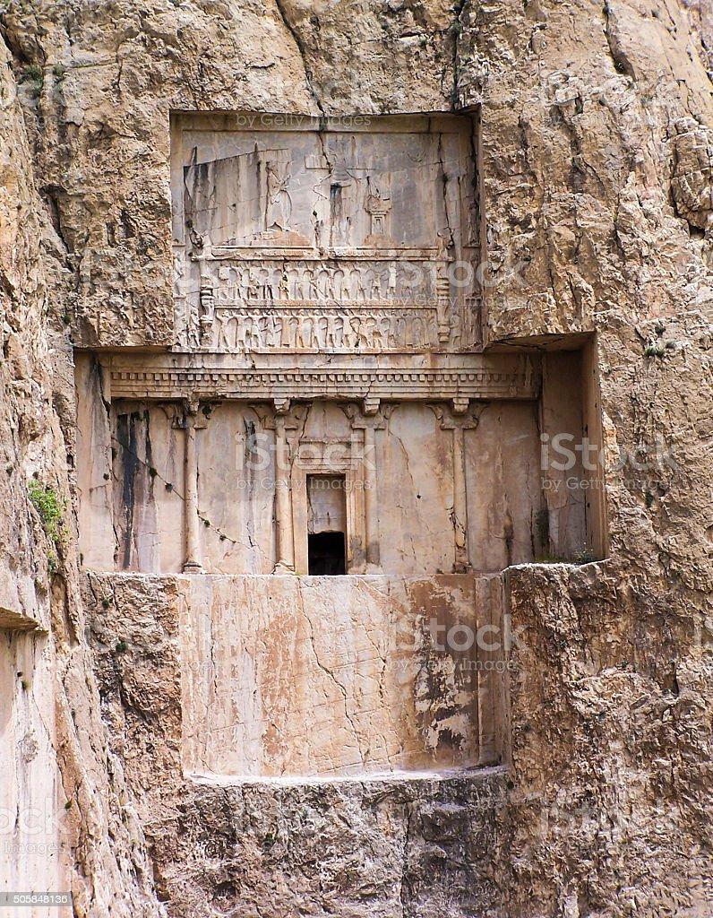 Tomb of Xerxes stock photo