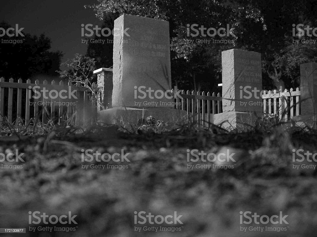 Tomb Stones royalty-free stock photo