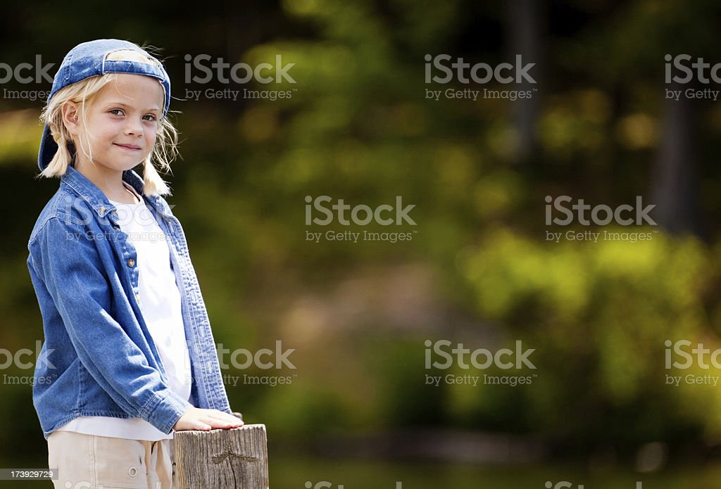 Tomboy on the Dock royalty-free stock photo