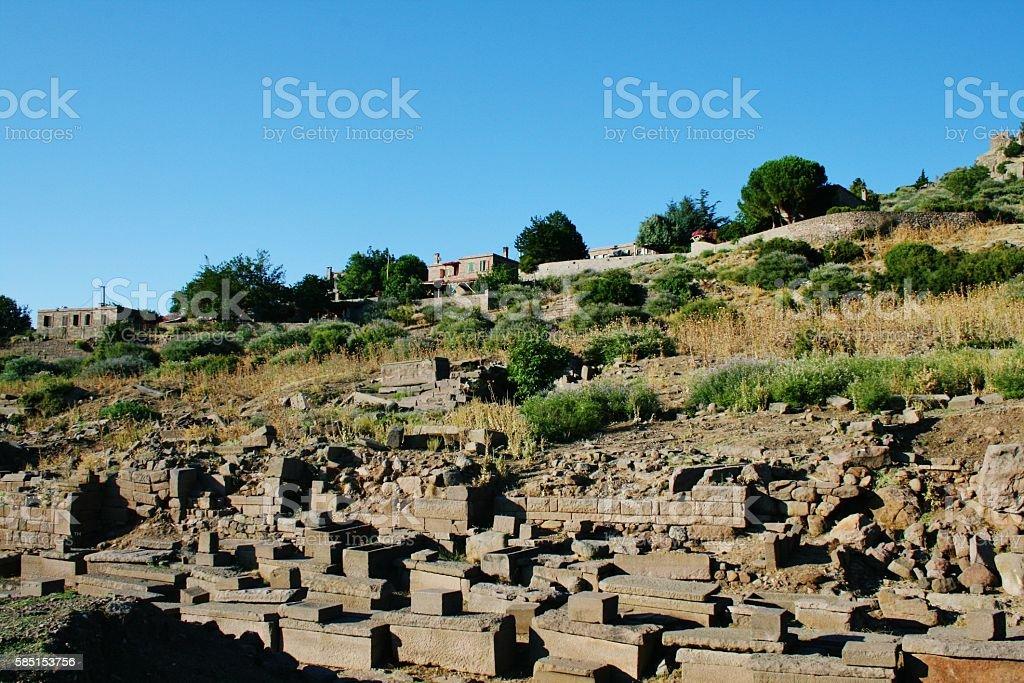 Tombs in Roman Nekropole stock photo