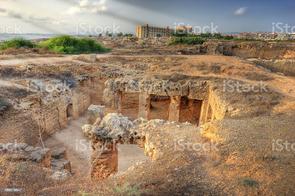 Tombs of the Kings (Paphos) Cypres royalty-free stock photo