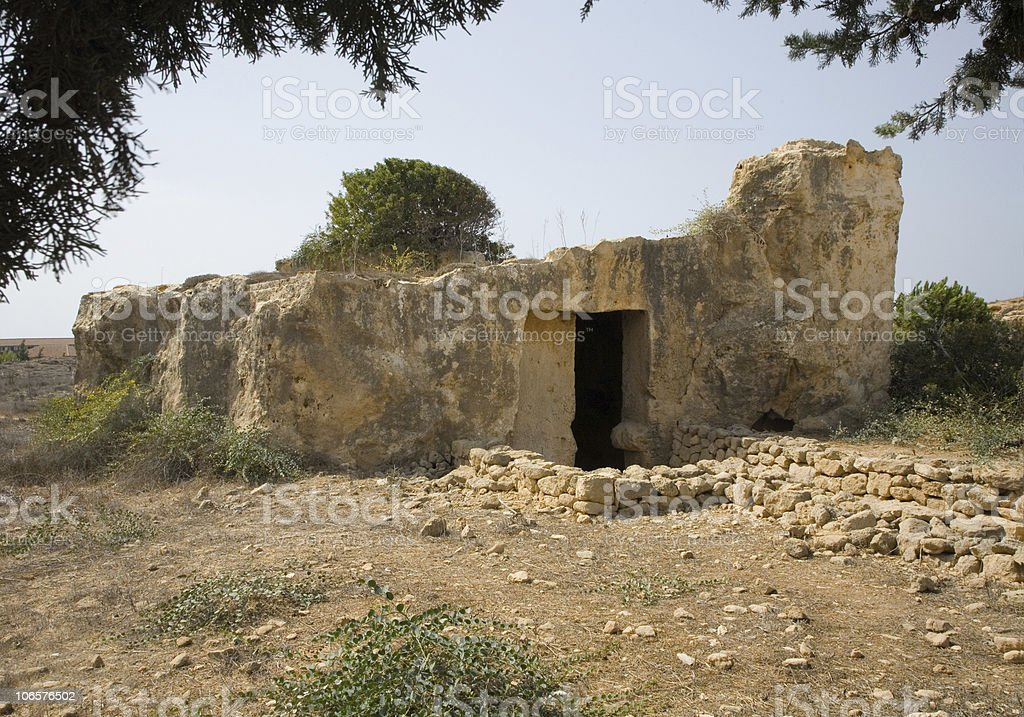 Tombs of the Kings, Paphos, Cyprus stock photo