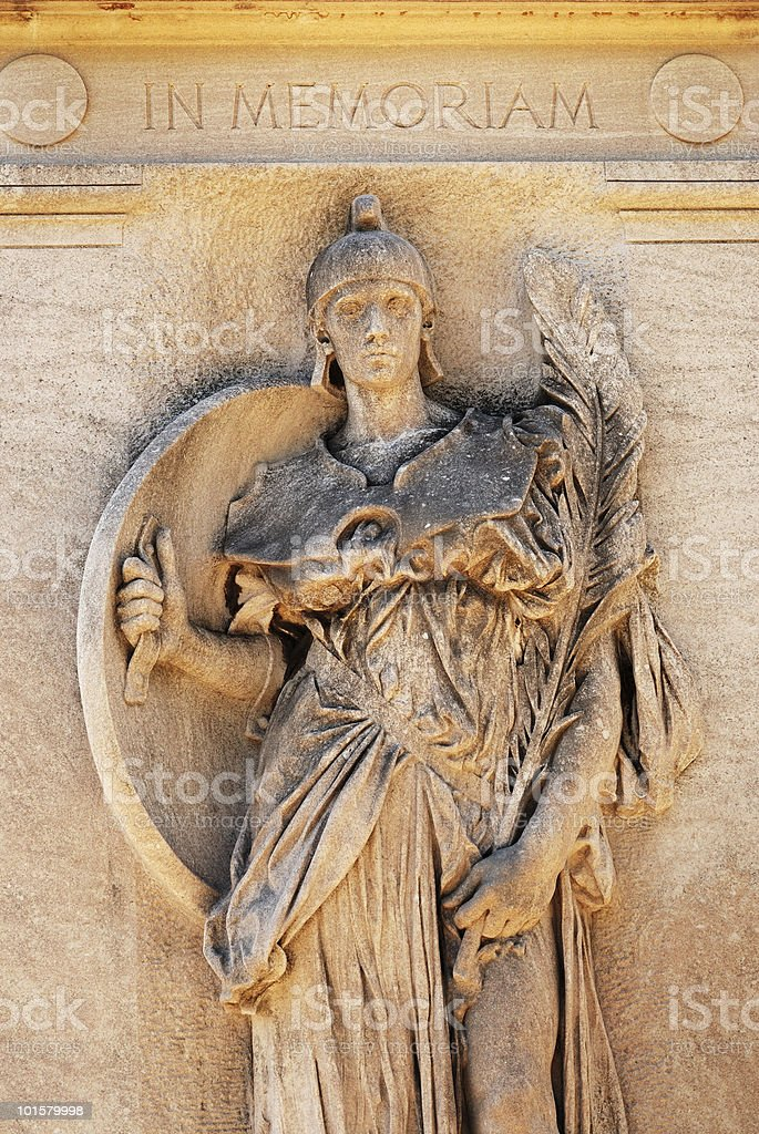 Tombstone angel sculpture royalty-free stock photo