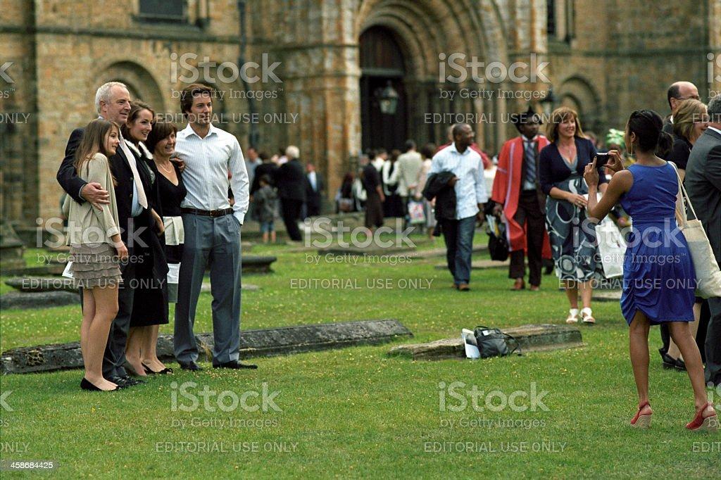 Tombstone graduation celebration stock photo