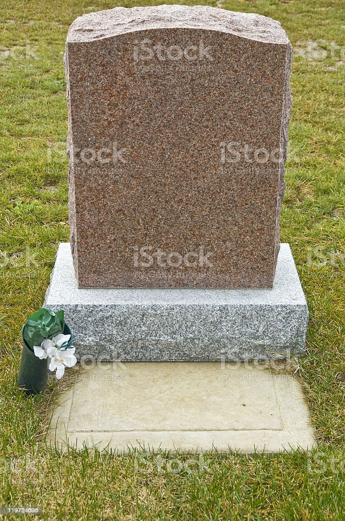 Tombstone in a Cemetery stock photo