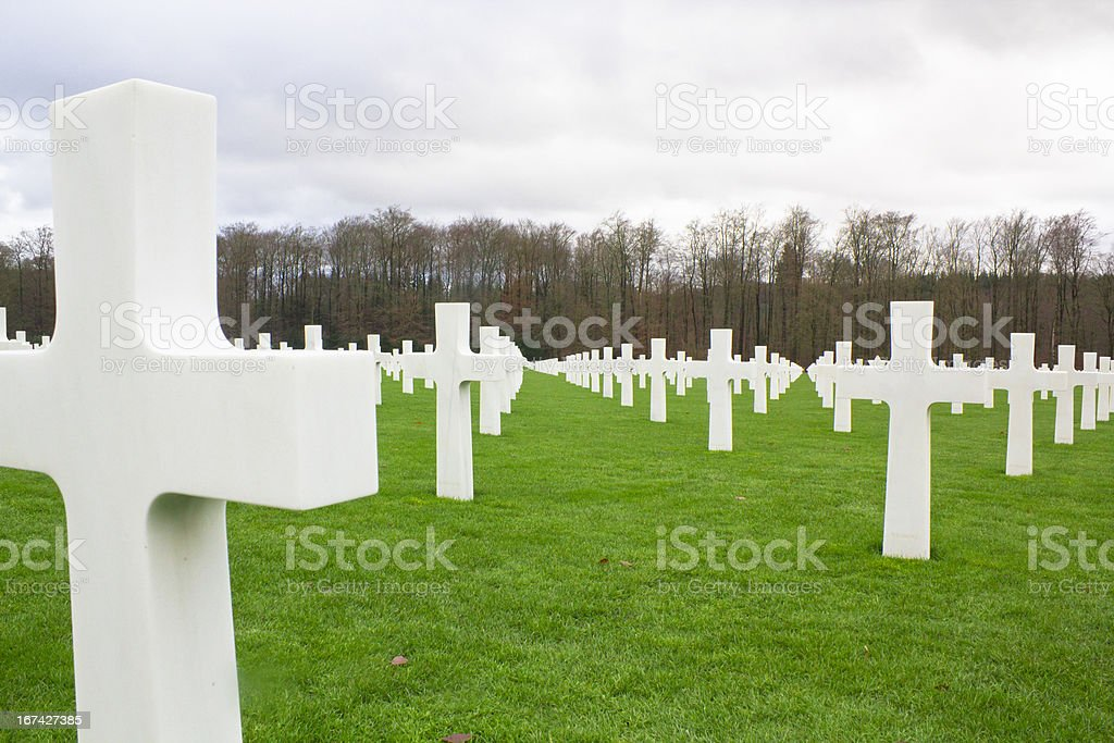 Tombstone in a War Memorial cemetery royalty-free stock photo