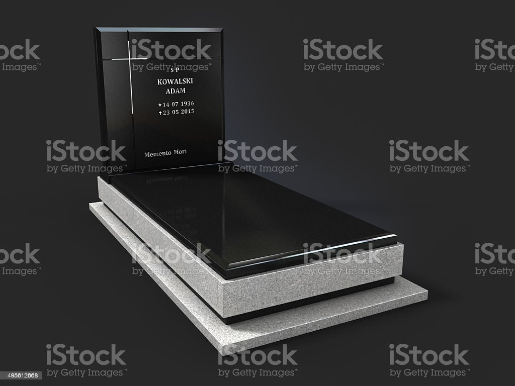 Tombstone monument nagrobek -clipping path stock photo