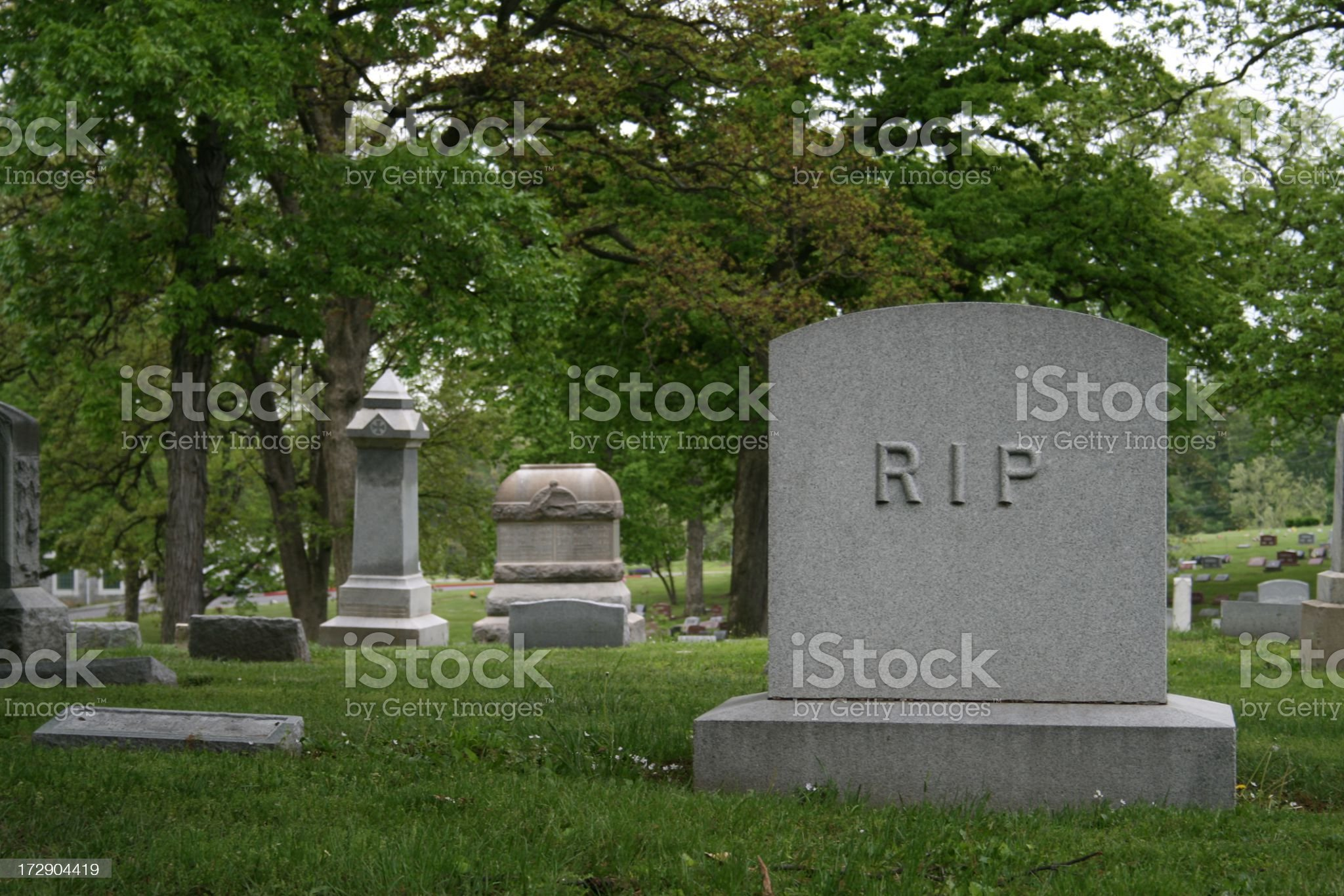Tombstone with RIP royalty-free stock photo