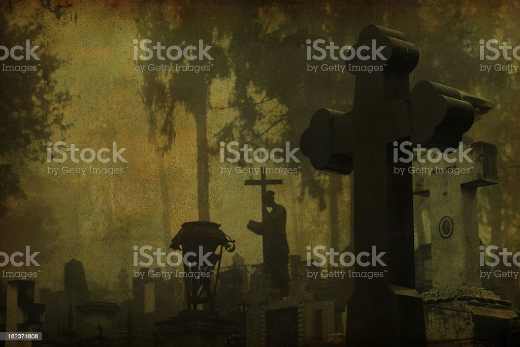 Tombstones Background royalty-free stock photo