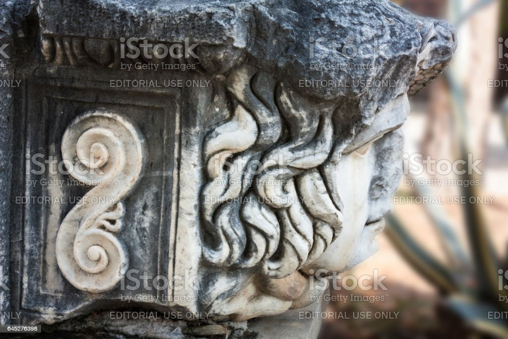 Tombstones in Aphrodisias stock photo