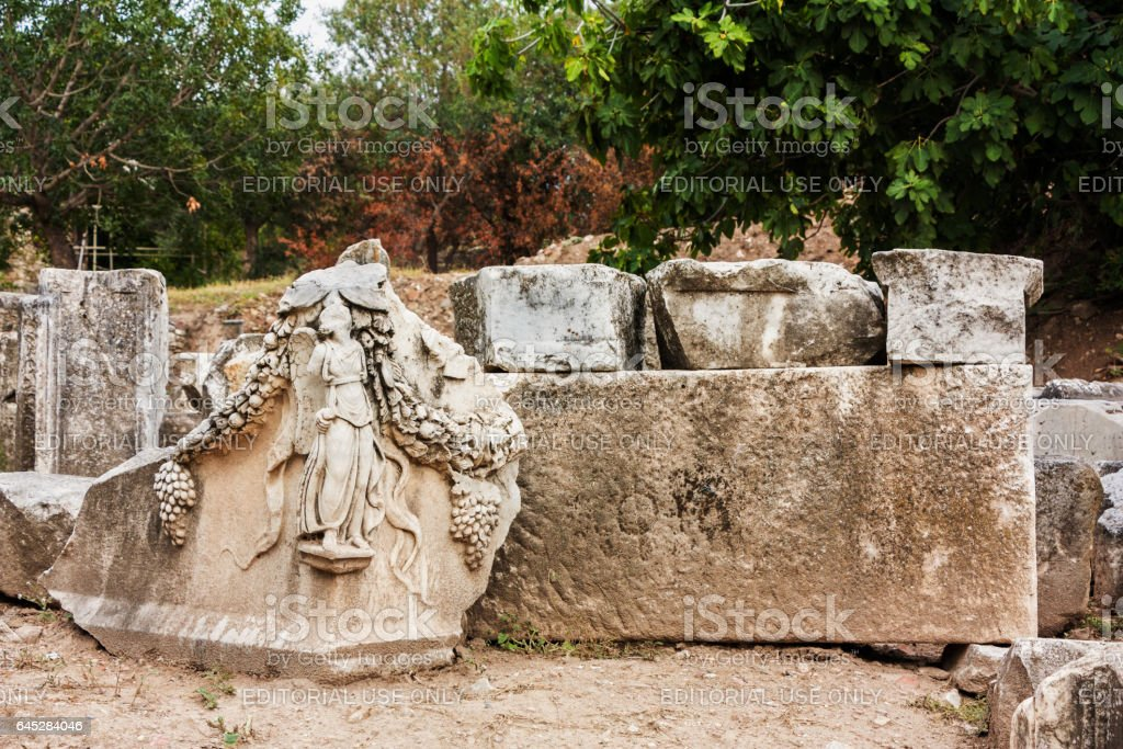 Tombstones in Aphrodisias stock photo