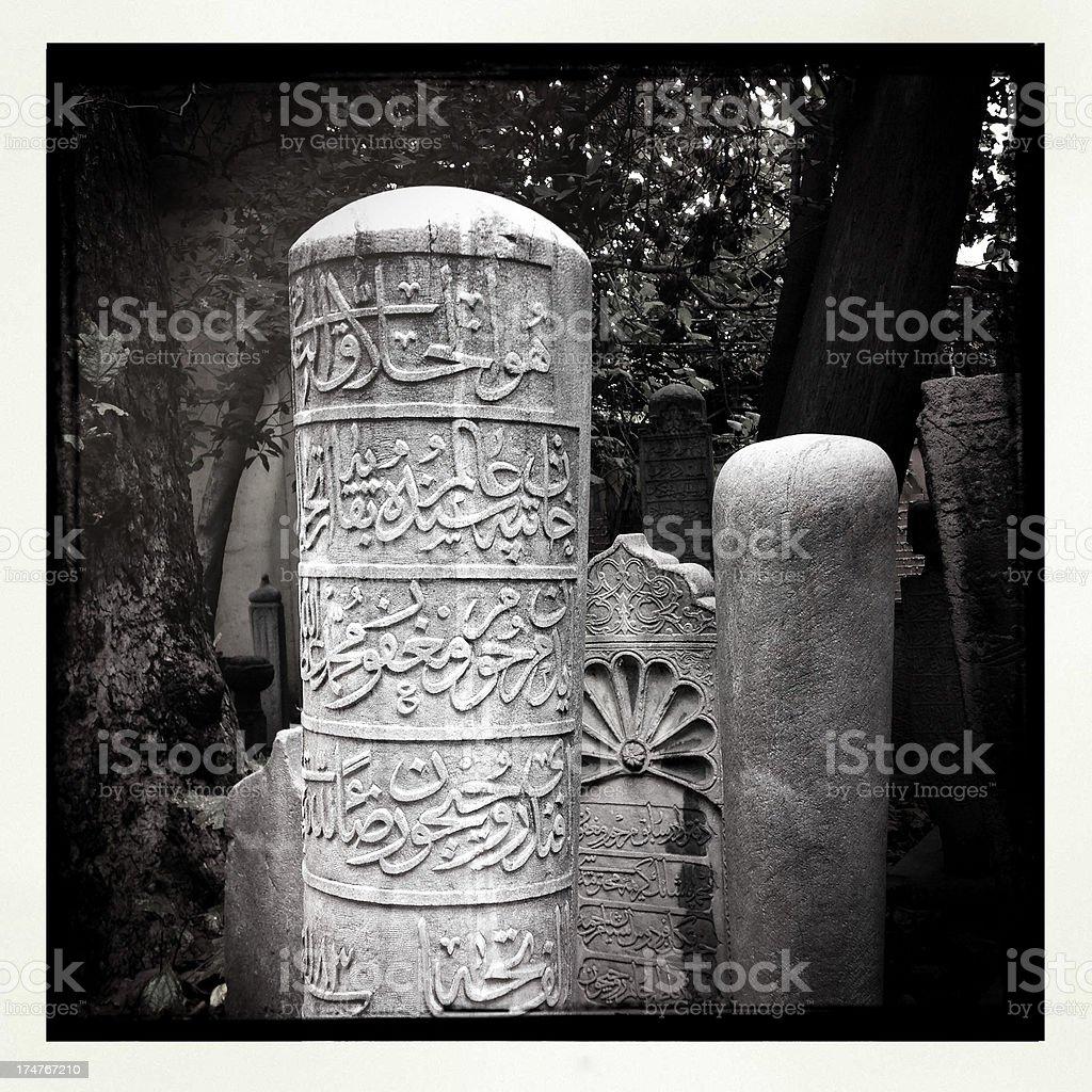 Tombstones royalty-free stock photo