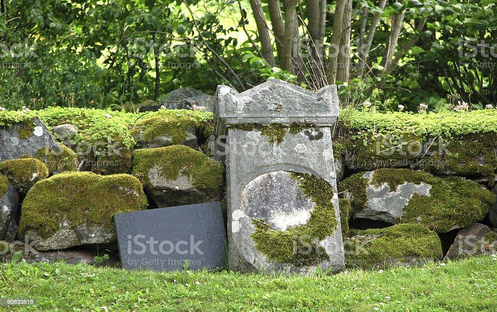 Tombstones stock photo