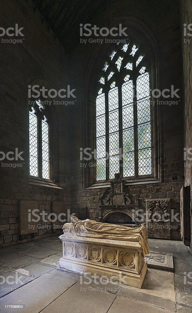 Tomd in Jedburgh Abbey, Scottish Borders stock photo