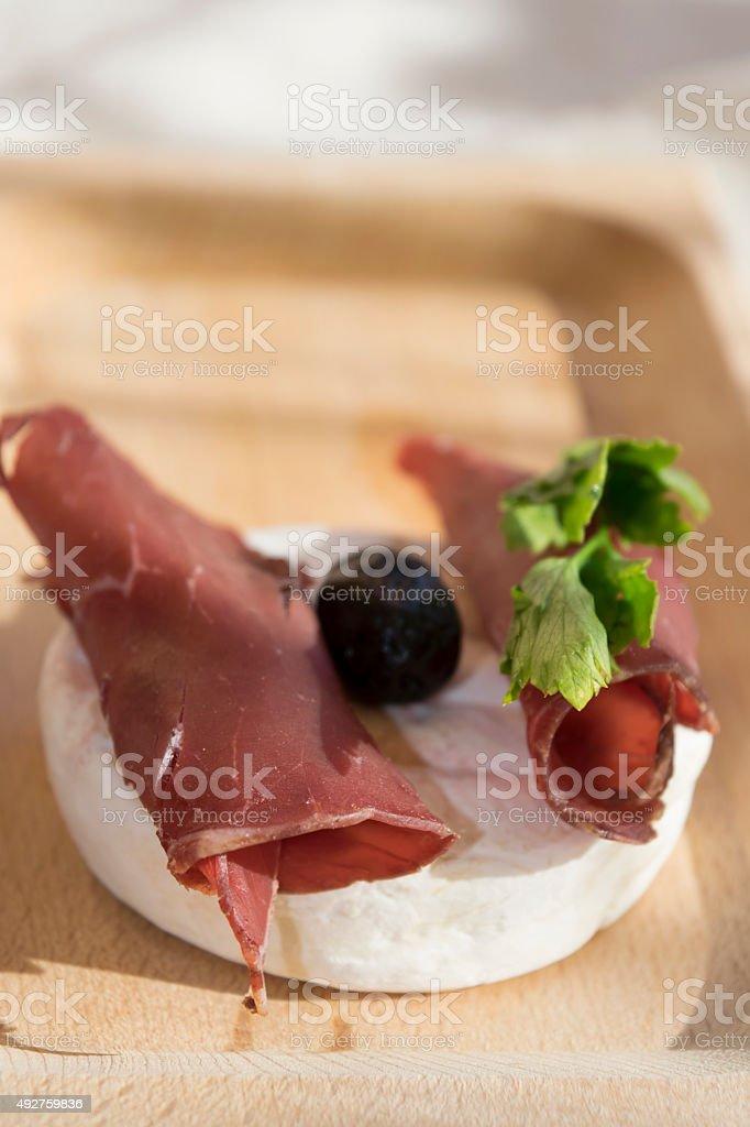 tominocheese and bresaola stock photo
