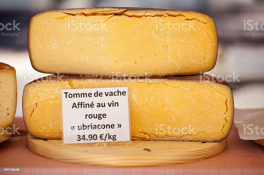 Tomme de Vache French Regional Cheese stock photo