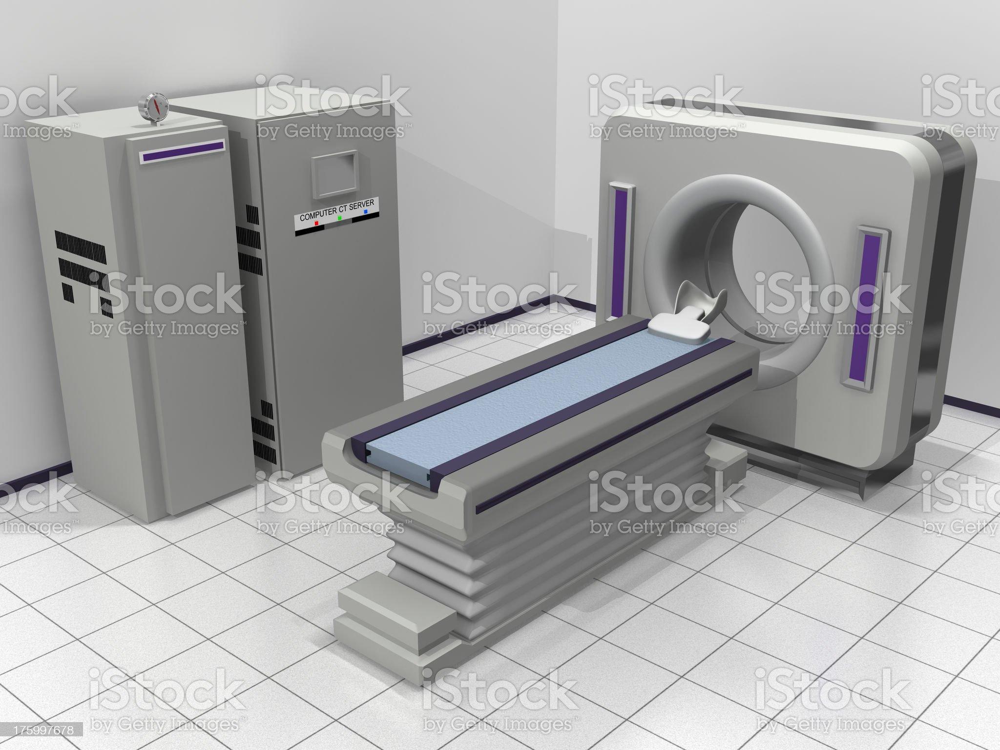 Tomograph Scanner royalty-free stock photo