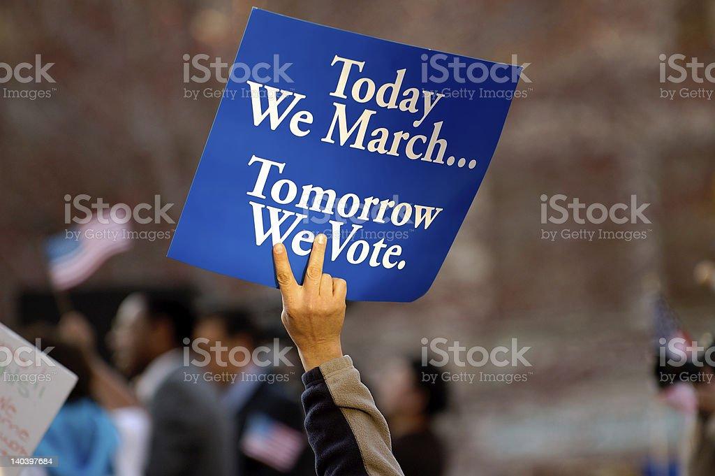 Tomorrow we vote stock photo